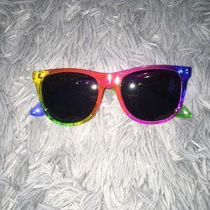PINK Rainbow Sunglasses